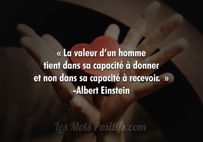 Citation Le don de soi