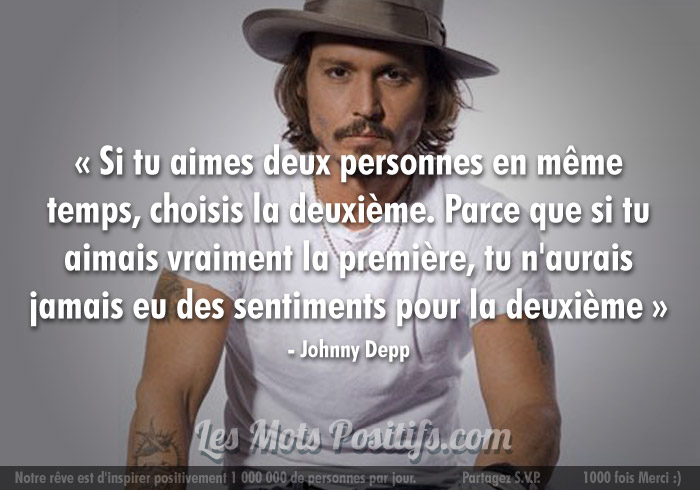 Citation L'amour selon Johnny Depp