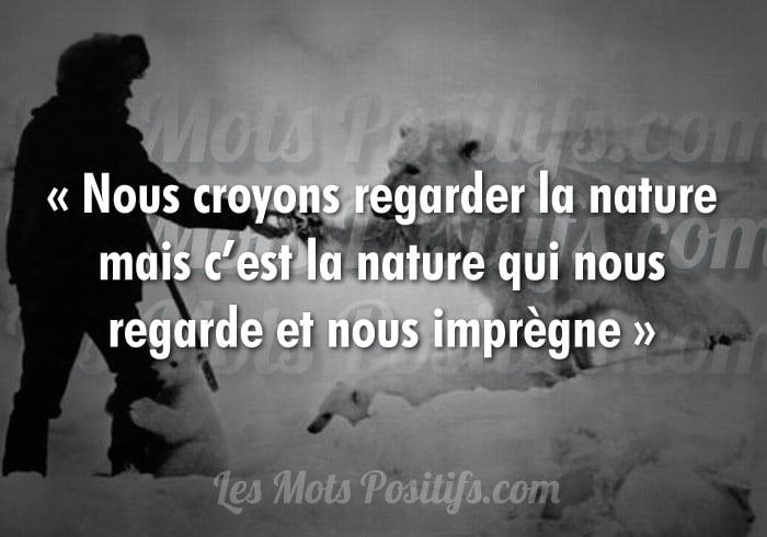 La nature fait partie de nous
