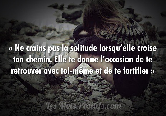 Citation Le bon côté de la solitude