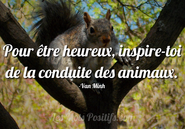 Citation Inspirons-nous de la nature