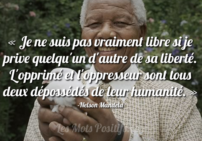 Nelson Mandela Citations Et Pensees Positives Les Mots