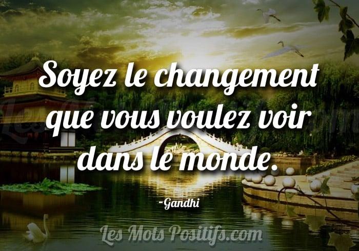 Le changement selon Gandhi