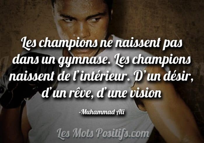 Le désir de devenir un champion