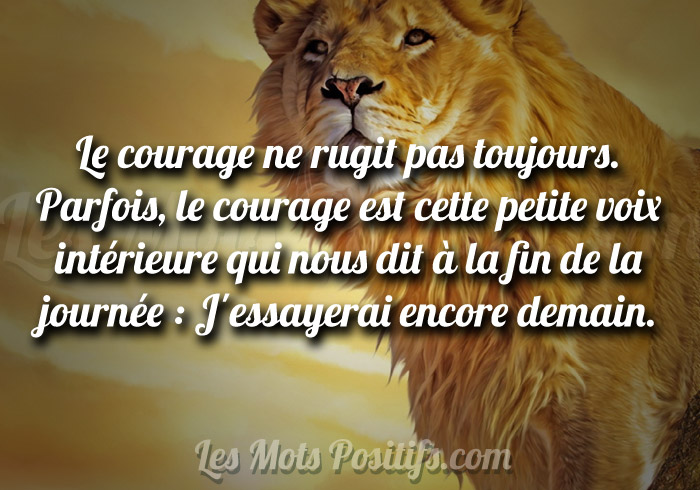 Le courage d'essayer à nouveau