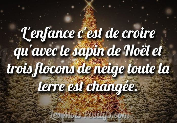Citation La magie de Noël