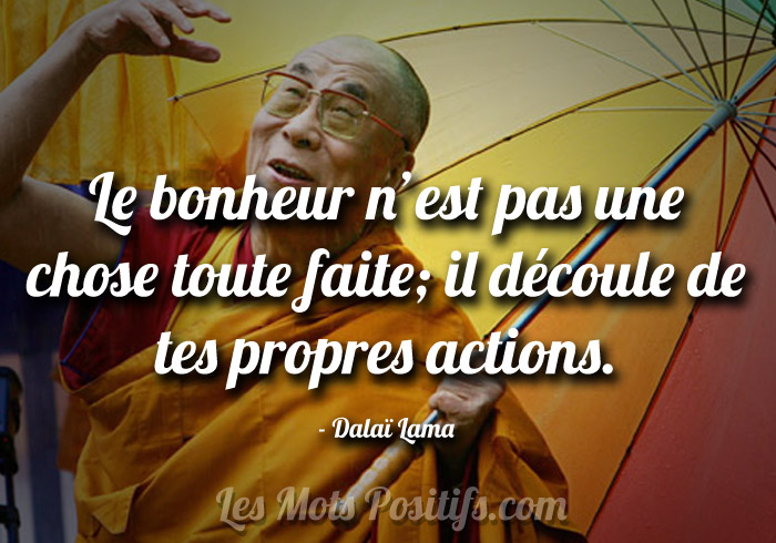 Favori Le bonheur selon le Dalaï Lama | Citation positive et proverbe  OC26