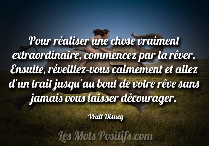Citation de Walt Disney