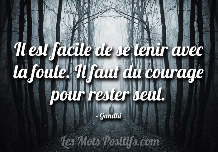 Citation Rester seul