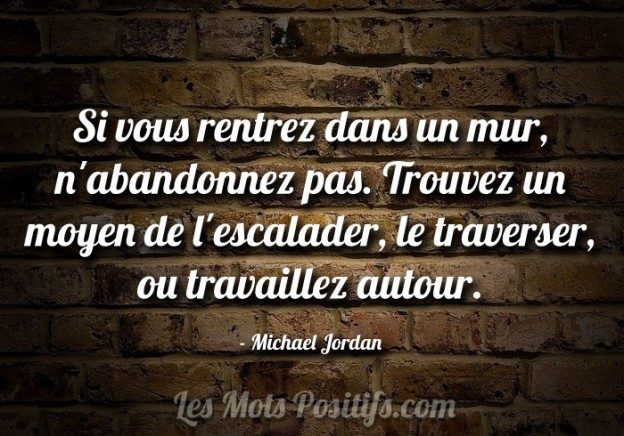 Les obstacles selon Michael Jordan