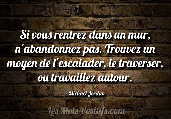 Citation Les obstacles selon Michael Jordan