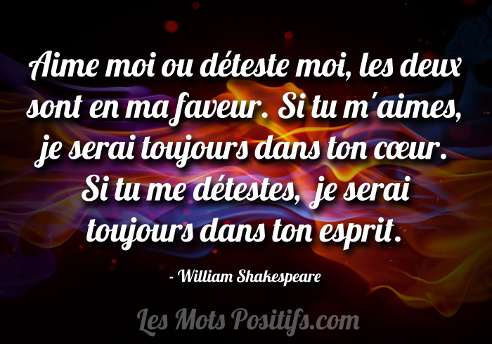 Aime moi ou d teste moi citation positive et proverbe for Le moi interieur