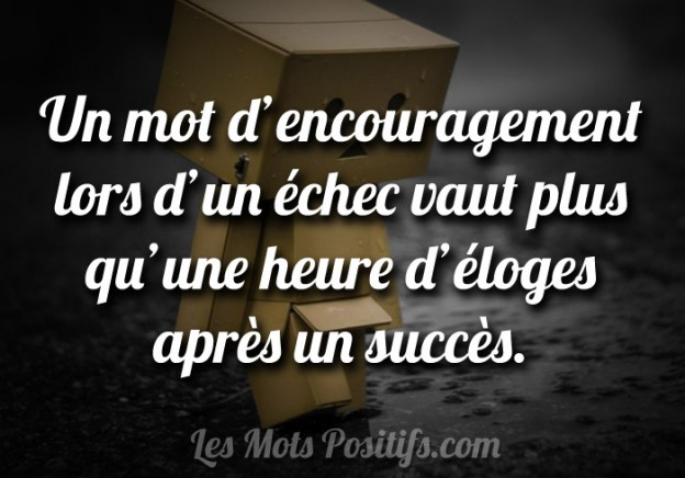 L'importance d'encourager