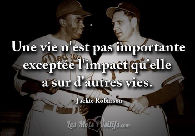 Citation de Jackie Robinson