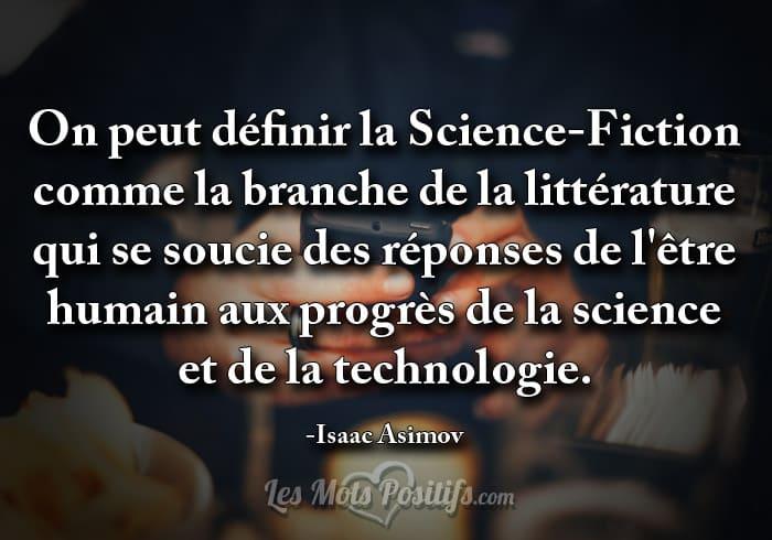 La Science Fiction Citations Et Pensees Positives Les Mots