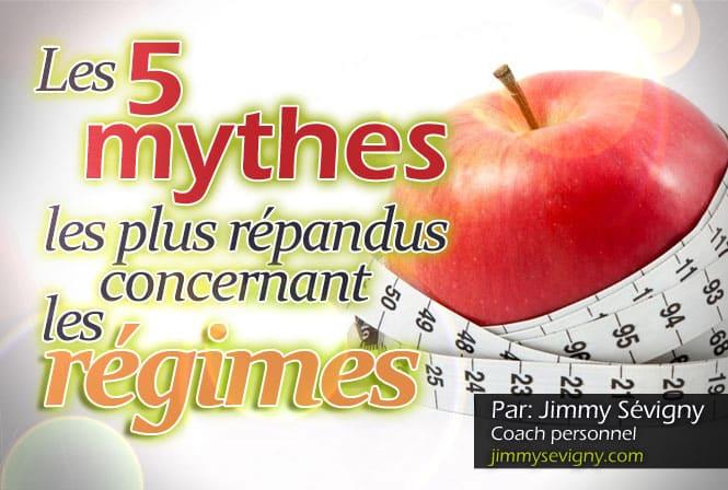 Citation Les 5 mythes les plus répandus concernant les régimes
