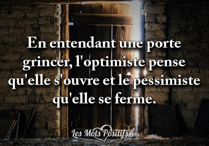 Êtes-vous optimiste ?