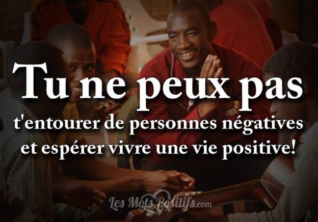S'entourer de personnes positives