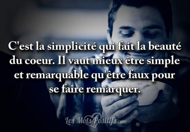 Soyez simple et remarquable