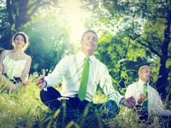 Business People Yoga Relaxation Wellbeing
