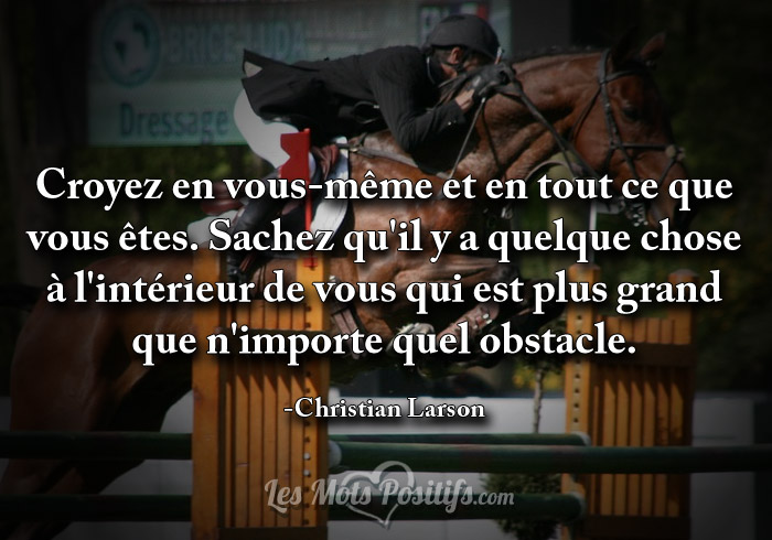 Citation Plus grand que n'importe quel obstacle