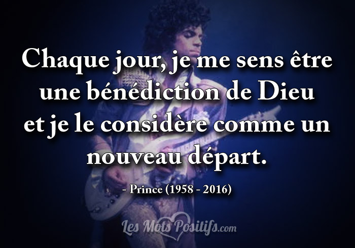 Citation Hommage à Prince (1978 -2016)