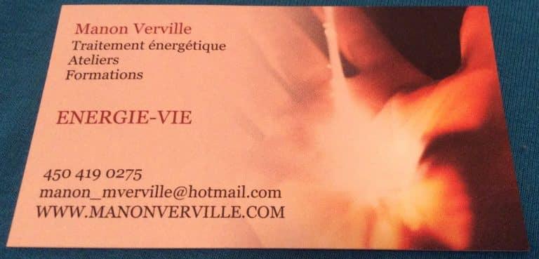 Manon Verville Énergie-Vie