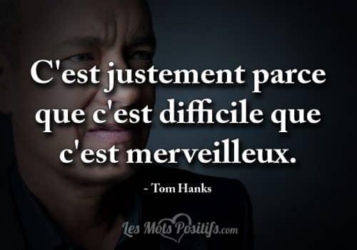 La persévérance selon Tom Hanks