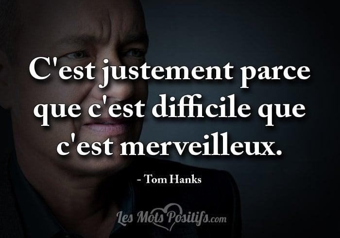 Citation La persévérance selon Tom Hanks