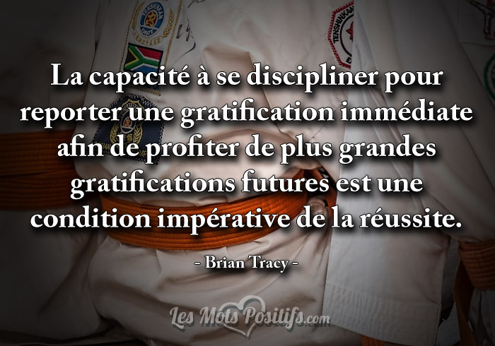 Citation Reporter une gratification immédiate