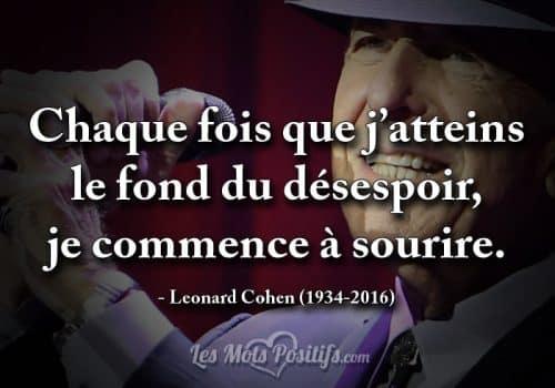 Citation hommage à Leonard Cohen