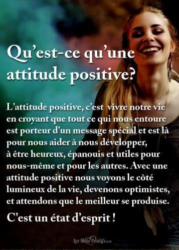 Qu'est-ce qu'une attitude positive?
