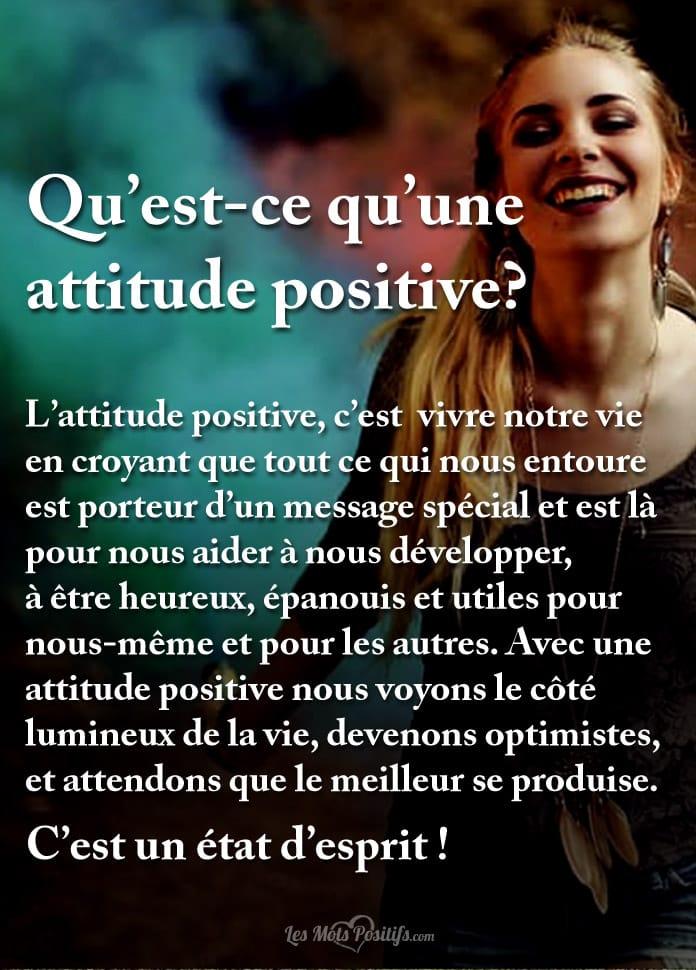 Qu Est Ce Qu Une Attitude Positive Citations Et Pensées
