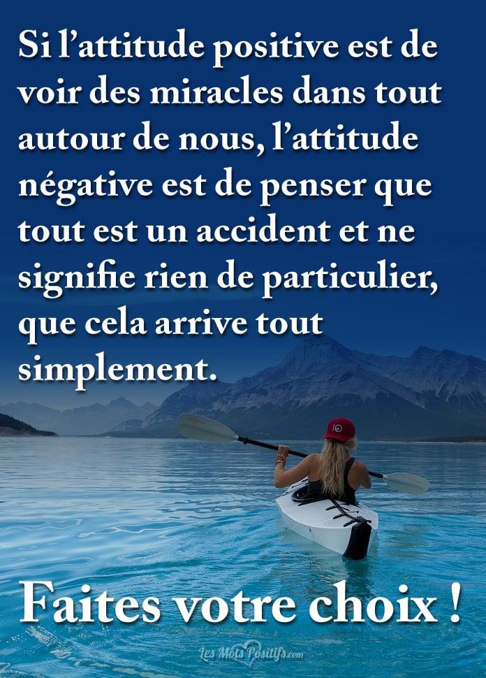 Citation Différence entre l'attitude positive et négative