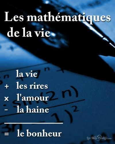 Les mathématiques de la vie