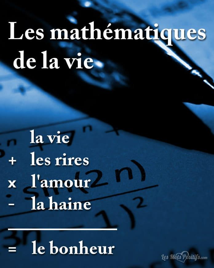 Citation Les mathématiques de la vie