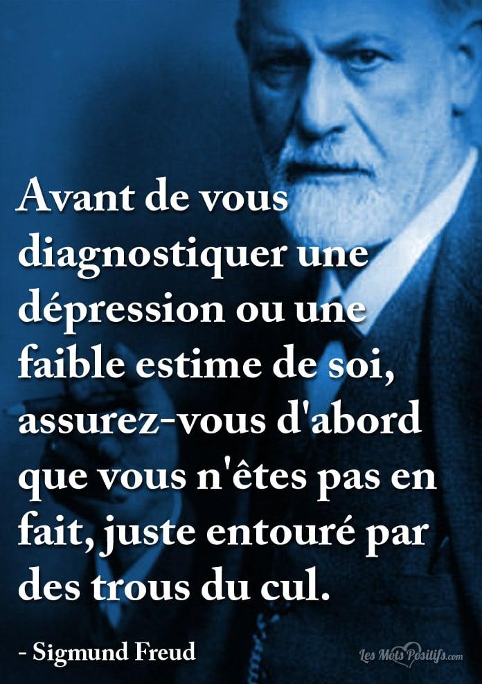 Citation Avant de vous diagnostiquer une dépression