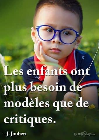 Être un modèle pour ses enfants