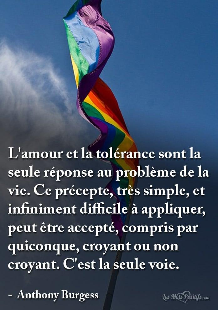 L Amour Et La Tolerance Sont La Seule Reponse Au Probleme De La