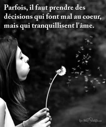 Les décisions qui font mal au coeur