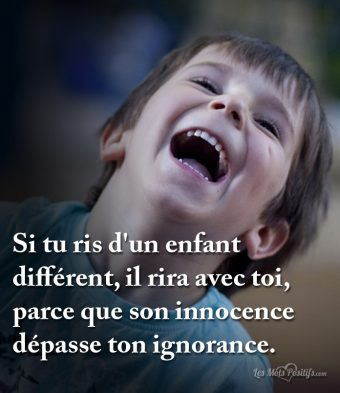 Son innocence dépasse ton ignorance