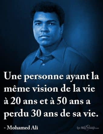 La vision de la vie selon Mohamed Ali