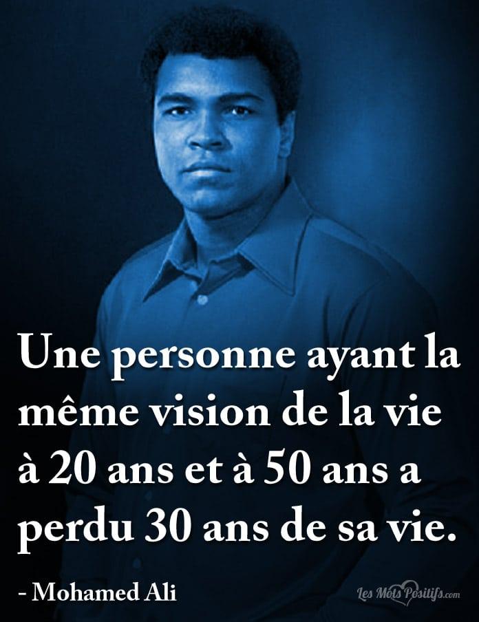 Citation La vision de la vie selon Mohamed Ali