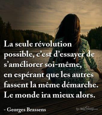 La seule révolution possible
