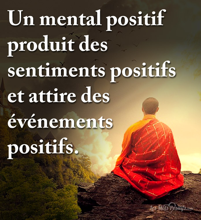 Citation Un mental positif