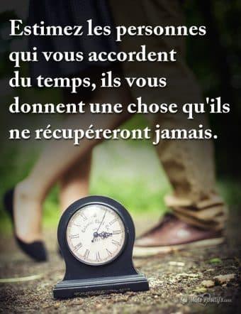 Estimez les personnes qui vous accordent du temps