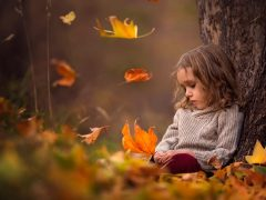 sad-girl-autumn-leaves-1080P-wallpaper