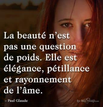 La beauté est un rayonnement  de l'âme