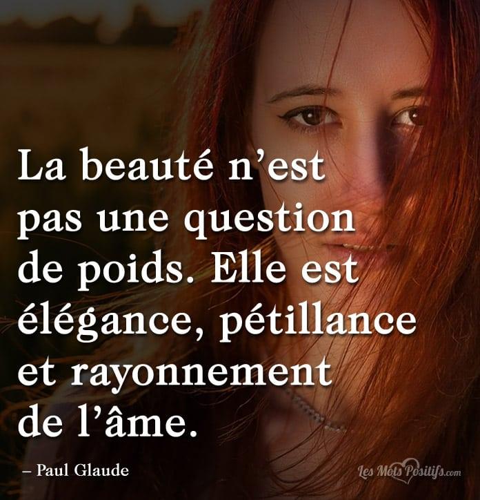 Citation La beauté est un rayonnement  de l'âme