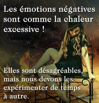 Les émotions négatives sont comme la chaleur excessive !